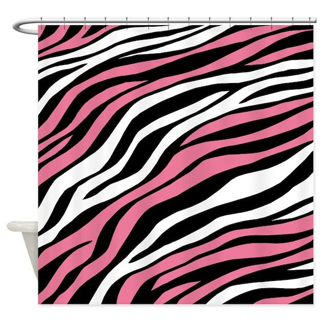 Zebra Print Mix Pink Shower Curtain By Starzraven