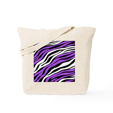 Zebra Print Mix Purple Tote Bag