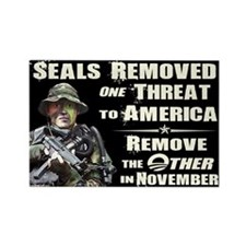 Navy Seals Removed One Threat Rectangle Magnet