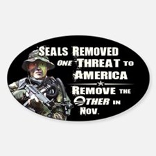 Navy Seals Removed One Threat Sticker (Oval)