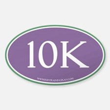 10K Run Achievement Sticker (Oval)