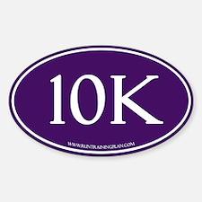 Purple 10K Run Achievement Sticker (Oval)