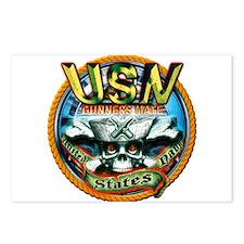 USN Gunners Mate Skull GM Postcards (Package of 8)