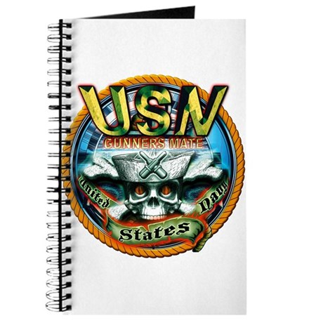 USN Gunners Mate Skull GM Journal