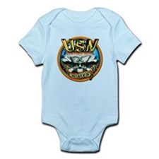 USN Gunners Mate Skull GM Infant Bodysuit