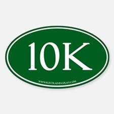 Green10K Run Training Plan Decal