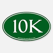 Green10K Run Training Plan Sticker (Oval)