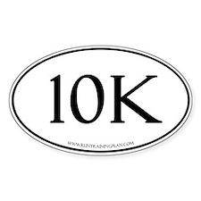 White 10K Run Training Plan Decal