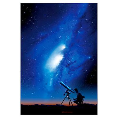 Amateur astronomy, computer artwork Poster