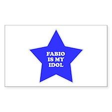 Fabio Is My Idol Rectangle Decal