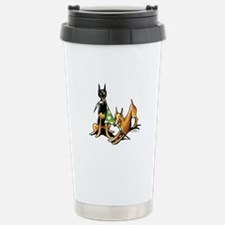 Min Pin Apples Stainless Steel Travel Mug