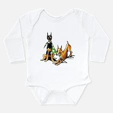 Min Pin Apples Long Sleeve Infant Bodysuit
