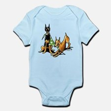 Min Pin Apples Infant Bodysuit