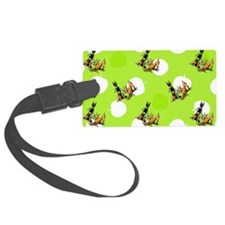 Min Pins n Apples Lime Luggage Tag