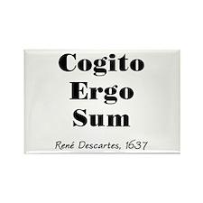 Cogito Ergo Sum Rectangle Magnet
