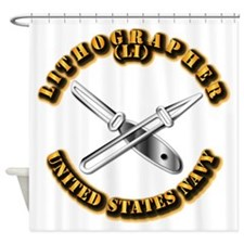 Navy - Rate - LI Shower Curtain