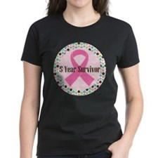 5 Year Breast Cancer Survivor Ribbon Tee