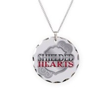 Shielded Hearts Badge Necklace