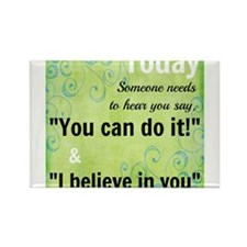 You Can Do It! Rectangle Magnet