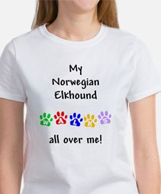 Norwegian Elkhound Walks Women's T-Shirt