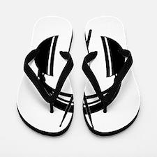 Cut And Dry Logo Black Flip Flops
