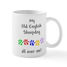 Old English Sheepdog Walks Mug