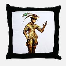 Steampunk Cyborg Throw Pillow