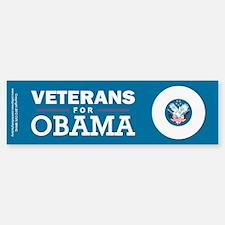 Veterans for Obama Bumper Bumper Sticker