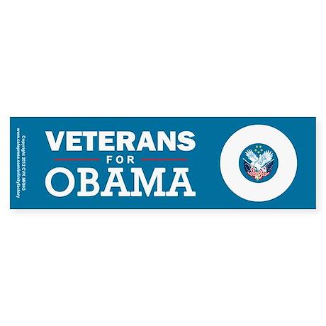 Veterans for Obama Sticker (Bumper)
