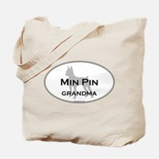Miniature Pinscher GRANDMA Tote Bag