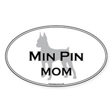 Miniature Pinscher MOM Oval Decal