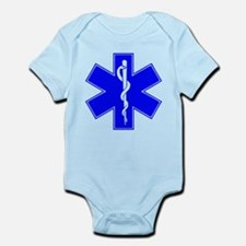 ems star of life Infant Bodysuit