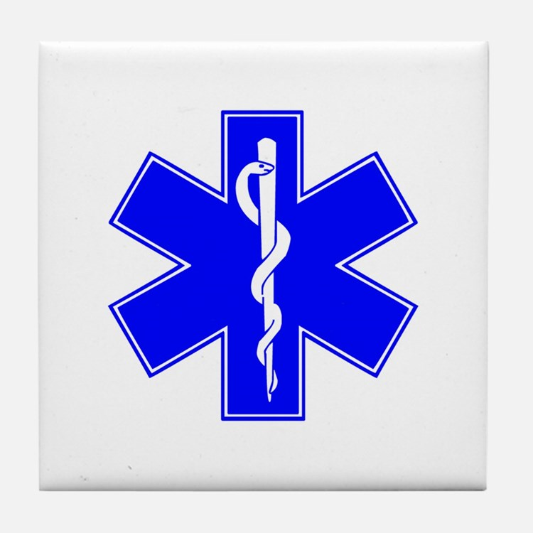 ems star of life Tile Coaster