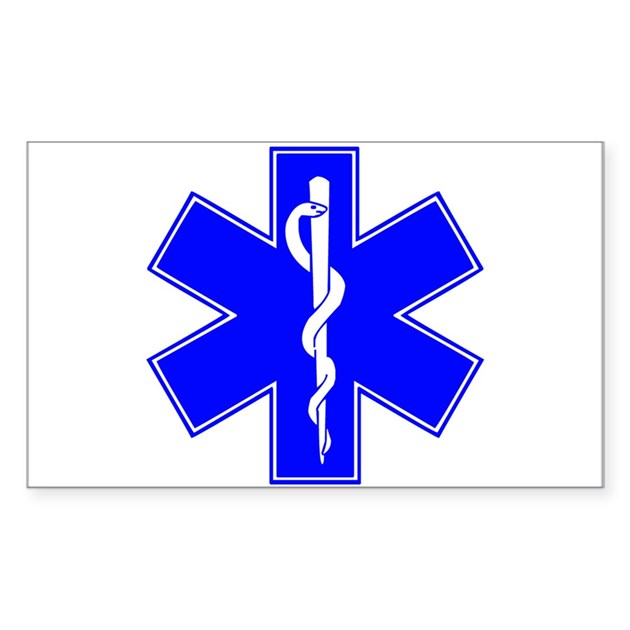 ems star of life Sticker (Rectangle) by listing-store-71994636