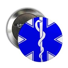 "ems star of life 2.25"" Button"