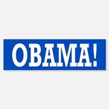 Obama Exclamation Bumper Bumper Sticker