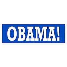 Obama Exclamation Bumper Sticker