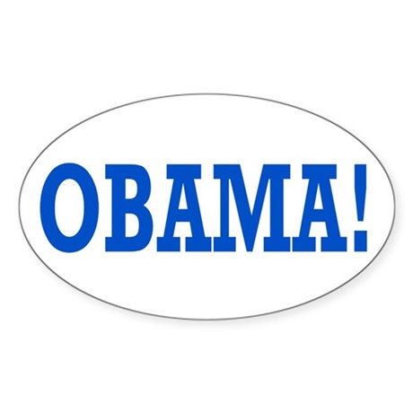 Obama Exclamation Sticker (Oval)