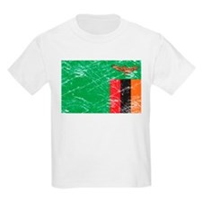 Vintage Zambia Flag Kids T-Shirt