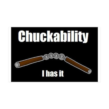 Chuckability 35x21 Wall Decal