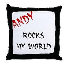 Andy Rocks Throw Pillow