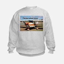 I'm just plane crazy: high wing Sweatshirt