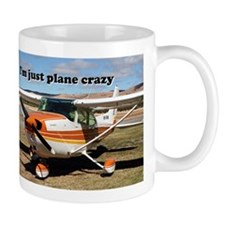 I'm just plane crazy: high wing Small Mug