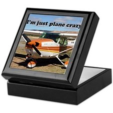 I'm just plane crazy: high wing Keepsake Box