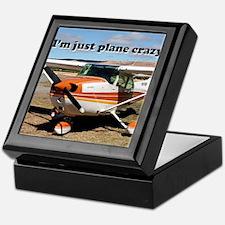 I'm just plane crazy: high wing Keepsake Box