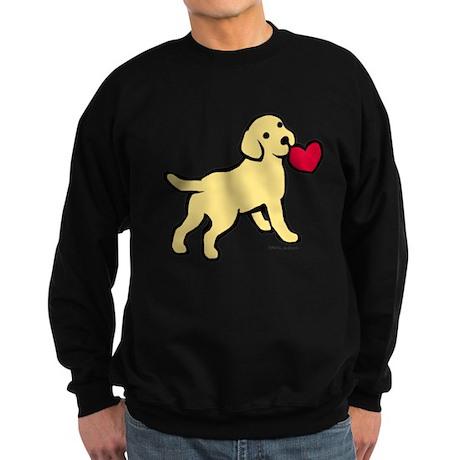 Yellow Lab Puppy Heart Sweatshirt (dark)