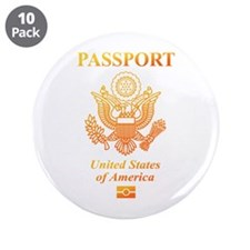 """PASSPORT(USA) 3.5"""" Button (10 pack)"""