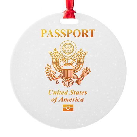 PASSPORT(USA) Round Ornament
