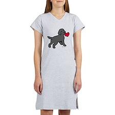 Black Lab Puppy Heart Women's Nightshirt