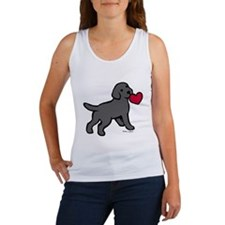 Black Lab Puppy Heart Women's Tank Top